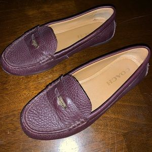 Coach Penny loafer in Oxblood size 5